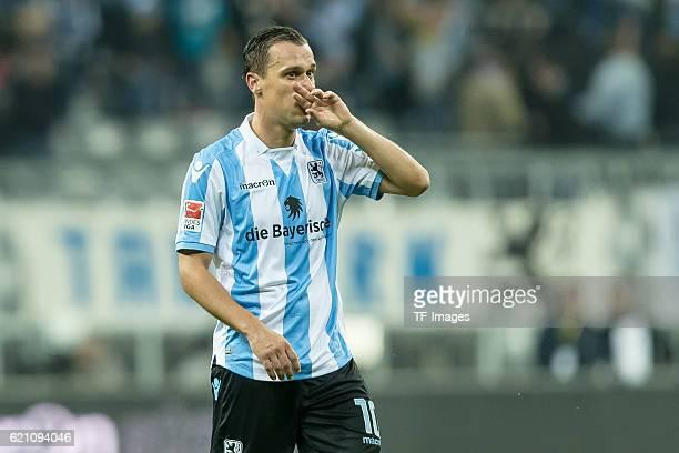 Muenchen Deutschland 2 Bundesliga 11 Spieltag TSV 1860 Muenchen FC Erzgebirge Aue Michael Liendl
