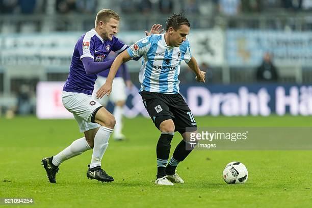Muenchen Deutschland 2 Bundesliga 11 Spieltag TSV 1860 Muenchen FC Erzgebirge Aue Nicky Adler gegen Michael Liendl
