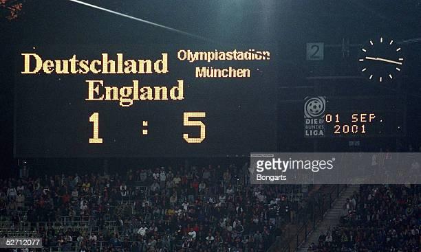 QUALIFIKATION 2001 Muenchen DEUTSCHLAND ENGLAND 15 ANZEIGETAFEL
