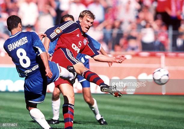 1 BUNDESLIGA 00/01 Muenchen FC BAYERN MUENCHEN 1 FC KAISERSLAUTERN 21 TOR zum 21 von Alexander ZICKLER/BAYERN Dimitrios GRAMMOZIS/KAISERSLAUTERN...