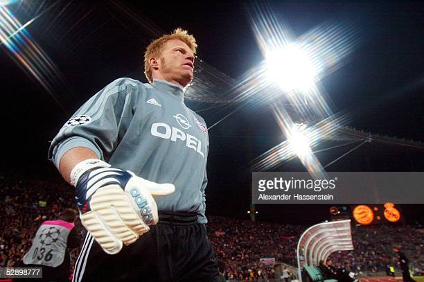 LEAGUE 01/02 Muenchen FC BAYERN MUENCHEN REAL MADRID 21 TORWART Oliver KAHN/BAYERN