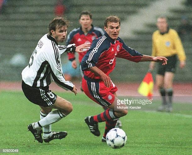 LEAGUE 99/00 Muenchen FC BAYERN MUENCHEN ROSENBORG TRONDHEIM 21 vlnr Ole Christer BASMA/TRONDHEIM Alexander ZICKLER/BAYERN