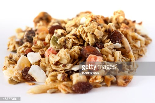 Muesli heap on white : Stock Photo