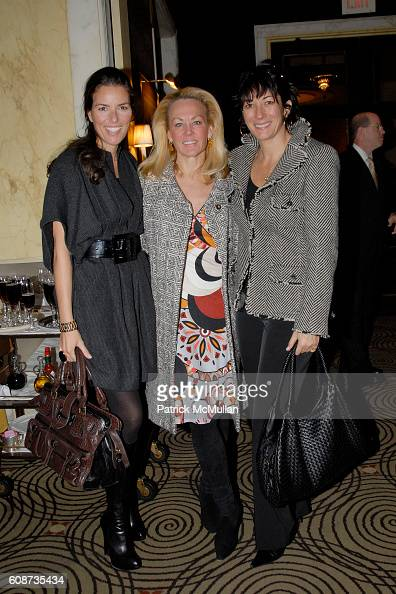 Muffie Potter Aston and Ghislaine Maxwell attend MARIA HATZISTEFANIS presents GLAMOTOX at a glamorous upper east side luncheon at The Carlyle on...