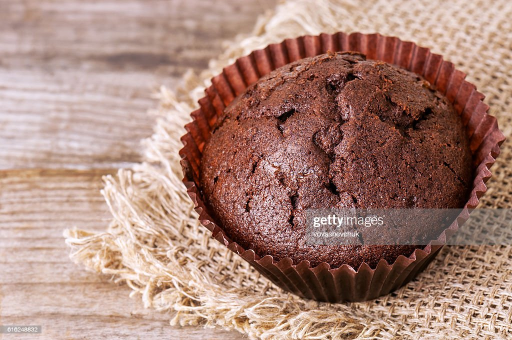 muffin on napkin : Stock Photo