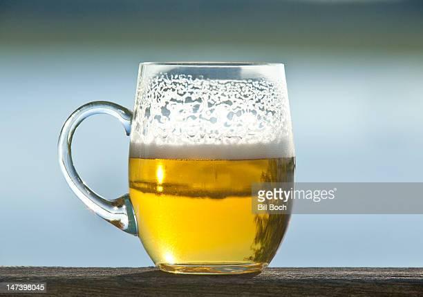 Mug of beer outside