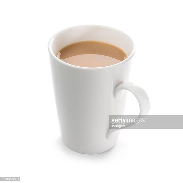 Tasse englischen Frühstück, Tee auf weißem Hintergrund.