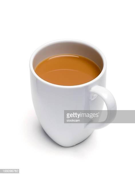 Mug of tea isolated on white