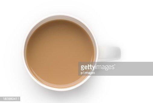 Mug of white coffee