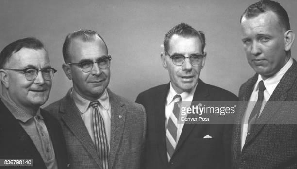 JAN 18 1960 1271960 1 mug shot A Sandy Bevis printers union vp 2 Frank O Fitzgerald of Denver secretarytreasurer of the InterMountain Typographical...