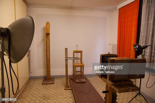 Mug Shot Office in the former prison of the East German communistera secret police or Stasi at Hohenschoenhausen on August 11 2017 in Berlin Germany...