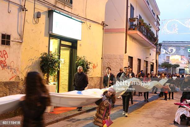 Mugnano Stocking by the Guinness Book of Records for the Feast of the Epiphany The stocking over 60 meters long sewn and assembled with the help of...
