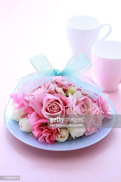 Mugs and Bunch of Flowers