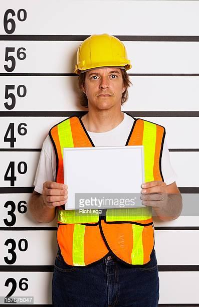 Mugshot ein Bauarbeiter