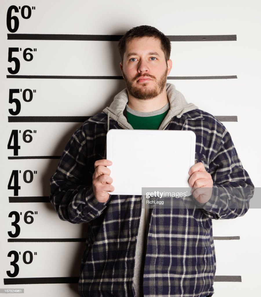 Mugshot of a Man