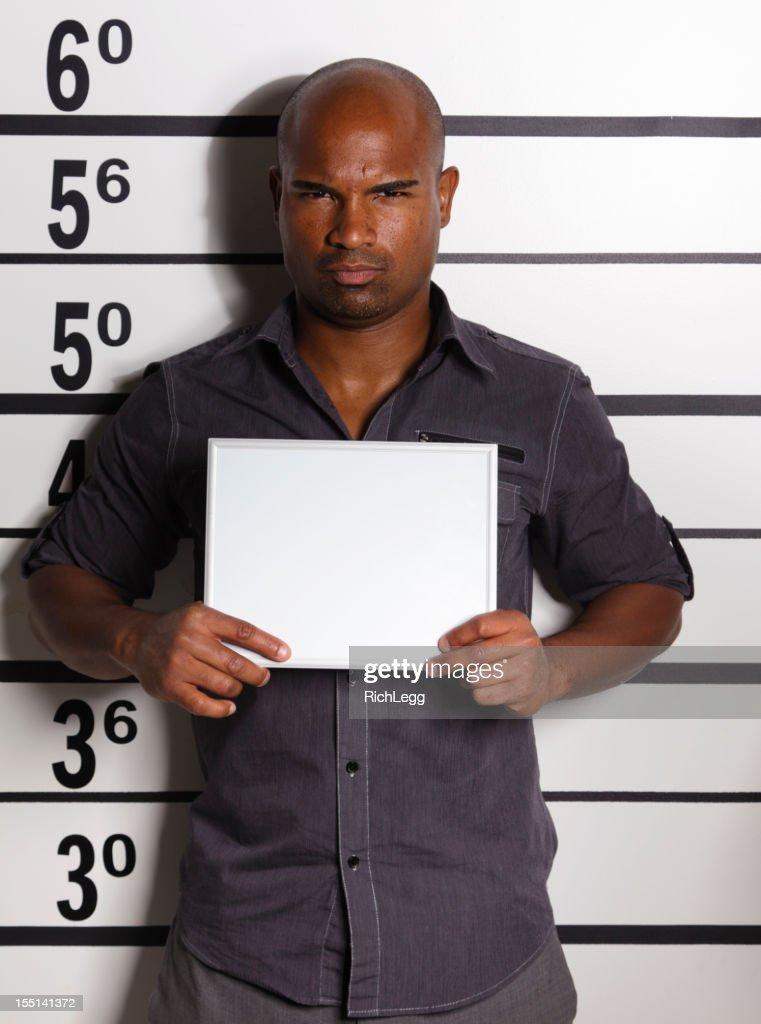 Mugshot of a Young Man