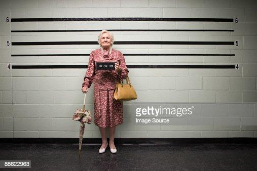 MUgshot of senior woman : ストックフォト