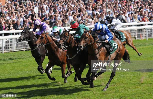 Muhaarar ridden by Paul Hanagan wins the Irish Thoroughbred Marketing Gimcrack Stakes on Betfred Ebor Day during Day Four of the 2014 Welcome To...