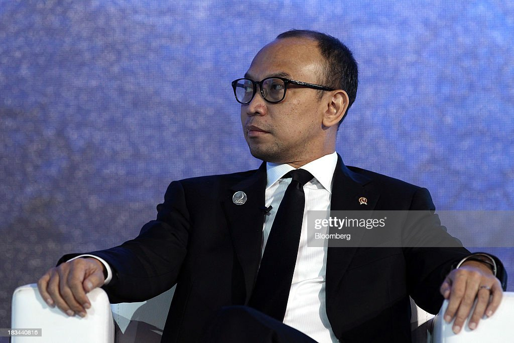 Muhamad Chatib Basri, Indonesia's finance minister, attends a panel discussion at the Asia-Pacific Economic Cooperation (APEC) CEO Summit in Nusa Dua, Bali, Indonesia, on Sunday, Oct. 6, 2013. Global growth will probably be slower and less balanced than desired, ministers from the APEC member economies said as they agreed to refrain from raising new barriers to trade and investment. Photographer: SeongJoon Cho/Bloomberg via Getty Images