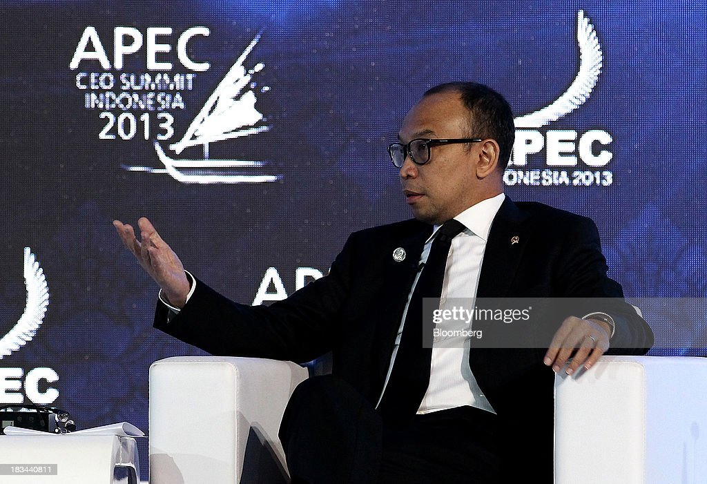 Muhamad Chatib Basri, Indonesia's finance minister, speaks during a panel discussion at the Asia-Pacific Economic Cooperation (APEC) CEO Summit in Nusa Dua, Bali, Indonesia, on Sunday, Oct. 6, 2013. Global growth will probably be slower and less balanced than desired, ministers from the APEC member economies said as they agreed to refrain from raising new barriers to trade and investment. Photographer: SeongJoon Cho/Bloomberg via Getty Images