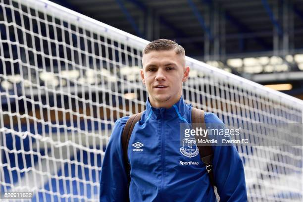 Muhamed Besic arrives for the Pre Season Friendly match between Everton and Sevilla at Goodison Park on August 6 2017 in Liverpool England