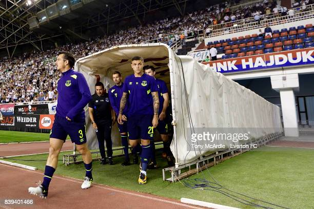Muhamed Besic of Everton before the UEFA Europa League Qualifying PlayOffs round second leg between Hajduk Split and Everton on August 24 2017 in...