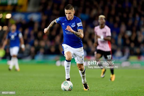 Muhamed Besic of Everton during the Carabao Cup Third Round match between Everton and Sunderland at Goodison Park on September 20 2017 in Liverpool...