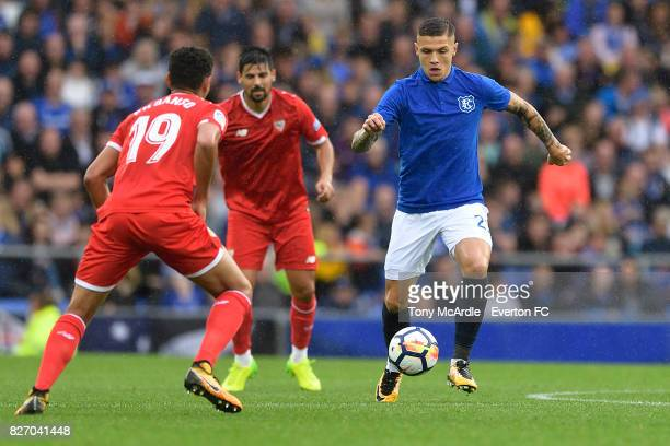 Muhamed Besic of Everton on the ball during the Pre Season Friendly match between Everton and Sevilla at Goodison Park on August 6 2017 in Liverpool...