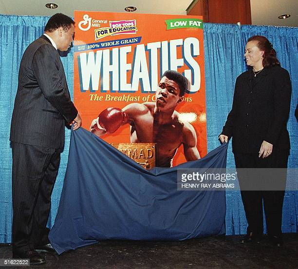 Muhammad Ali and his wife Lonnie unveil the special edition Muhammad Ali Wheaties' box which marks the cereal's 75th anniversary 04 February Wheaties...