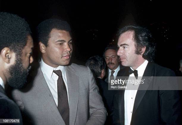Muhammad Ali and Neil Diamond during Neighborhood of Watts Annual Dinner at Beverly Wilshire Hotel in Beverly Hills California United States