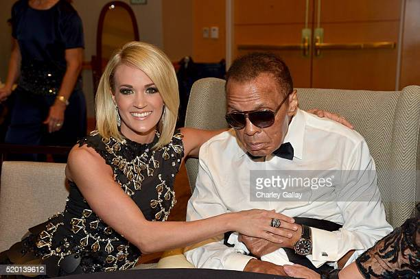 Muhammad Ali Celebrity Fight Night Award honoree Carrie Underwood and Muhammad Ali attend Muhammad Ali's Celebrity Fight Night XXII at the JW...