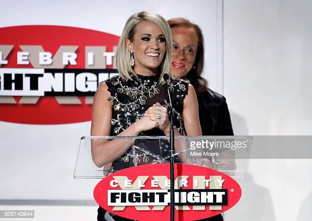 Muhammad Ali Celebrity Fight Night Award honoree Carrie Underwood speaks onstage during Muhammad Ali's Celebrity Fight Night XXII at the JW Marriott...