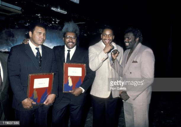 Muhammad Ali Don King _Witherspoon _Tubbs during Press Conference Announcing World Heavyweight Championship Fight at Limelight Disco in Atlanta GA...