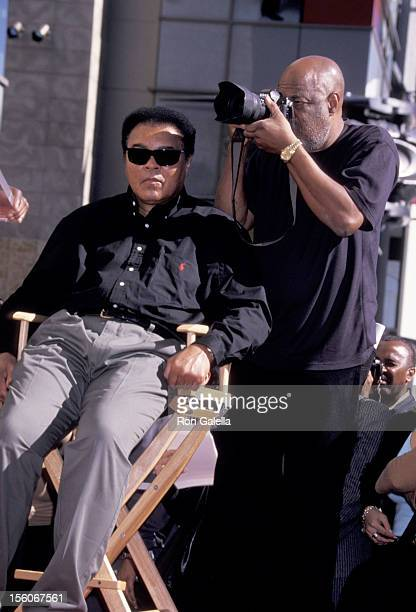 Muhammad Ali Howard Bingham during Muhammad Ali Celebrates his 60th Birthday with a Star on the Hollywood Walk of Fame at Hollywood Boulevard in...