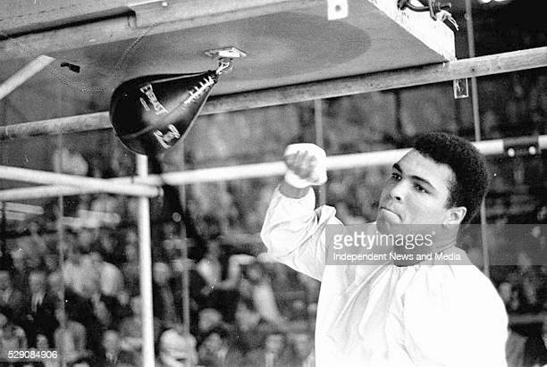 Muhammad Ali in Dublin for Fight with Al Blue Lewis circa July 1972 Photographer Tom Burke
