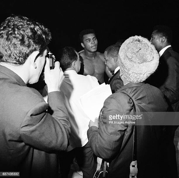 Muhammad Ali leaves the ring after demolishing Brian London in the third round to retain the World Heavyweight Championship