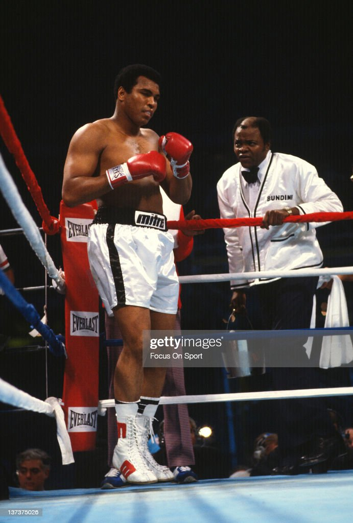 Muhammad Ali standing in his corner fights Leon Spinks for The Ring and WBA heavyweight tittle on September 15 1978 at the Louisiana Superdome in New...