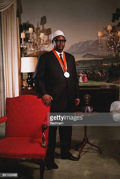 Muhammad Haji Ibrahim Egal the prime minister of Somalia stands for a portrait 1968 New York He later served as president of the selfproclaimed...