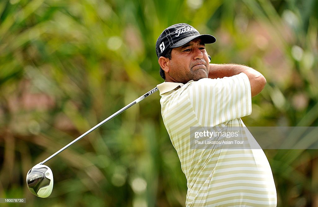 Muhammad Munir of Pakistan plays a shot during round four of the Asian Tour Qualifying School Final Stage at Springfield Royal Country Club on January 26, 2013 in Hua Hin, Thailand.