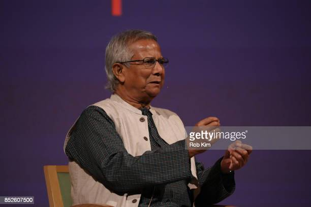 Muhammad Yunus attends Fast Forward Women's Innovation Forum at The Metropolitan Museum of Art on September 23 2017 in New York City