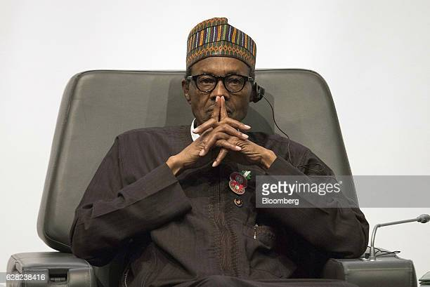 Muhammadu Buhari Nigeria's president pauses during the International Forum on Peace and Security In Africa in Dakar Senegal on Tuesday Dec 6 2016 The...