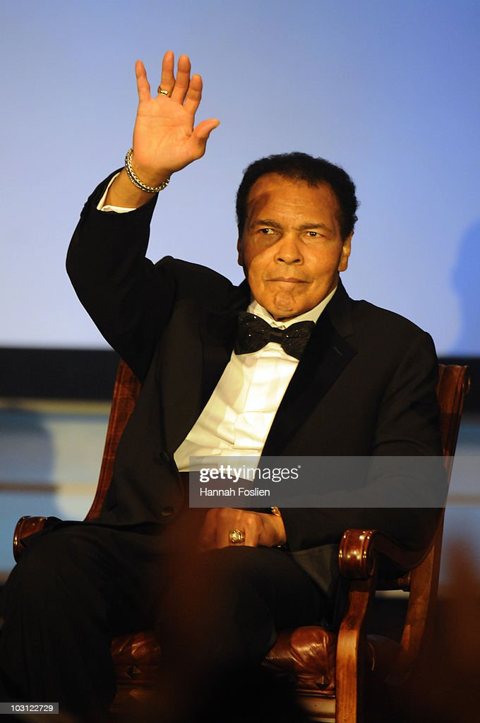 Muhammed Ali is honored at the 2010 Starkey Hearing Foundation 10th Annual 'So the World May Hear' Gala at Saint Paul RiverCentre on July 25 2010 in...