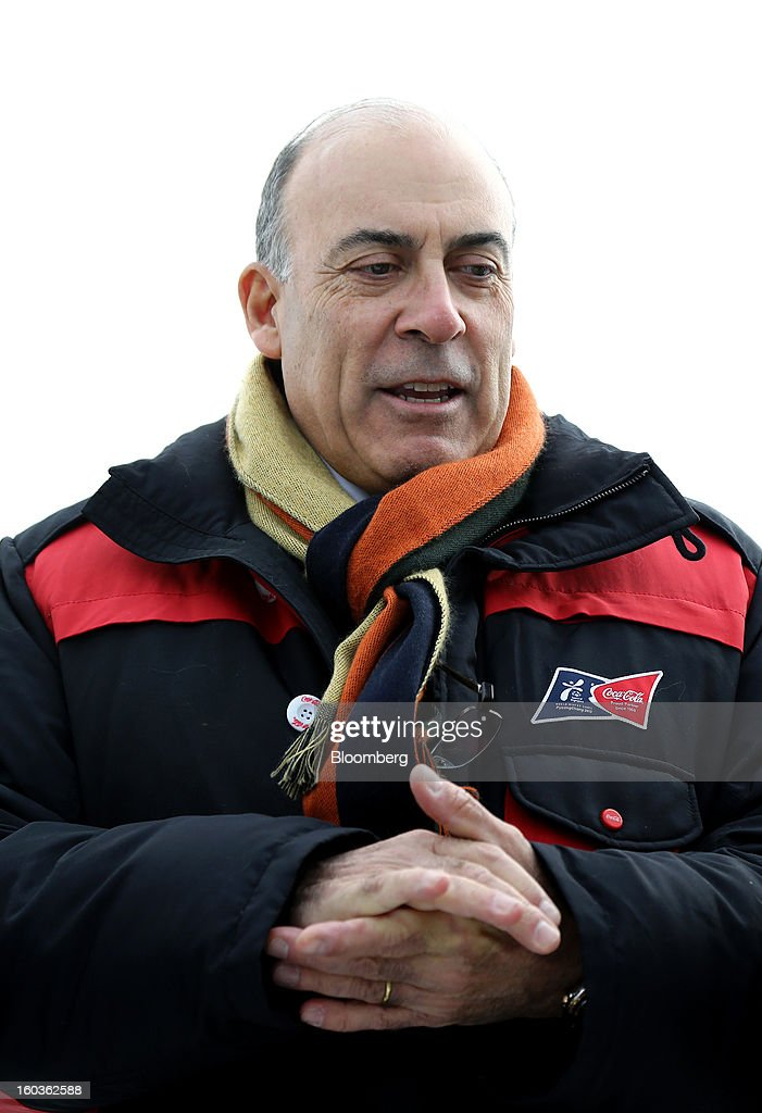 Muhtar Kent, chief executive officer of Coca-Cola Co., speaks to the media during a visit to the 2013 Pyeongchang Special Olympics Winter Games in Pyeongchang, South Korea, on Wednesday, Jan. 30, 2013. The 2013 Pyeongchang Special Olympics Winter Games takes place from Jan. 29 to Feb 5. Photographer: SeongJoon Cho/Bloomberg via Getty Images