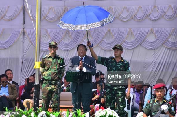 TH Muivah General Secretary of the National Socialist Council of NagalandIsak Muivah address during the 38th Naga Republic Day celebration at the...
