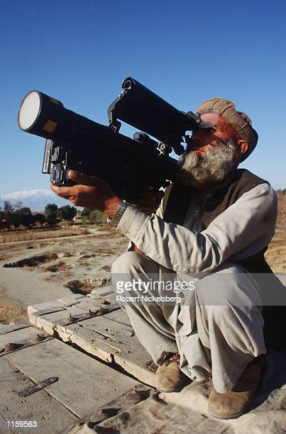 A mujahideen or rebel fighter holds a stinger March 15 1989 in Jalalabad Afghanistan The end of Soviet military occupation which began in 1979 has...