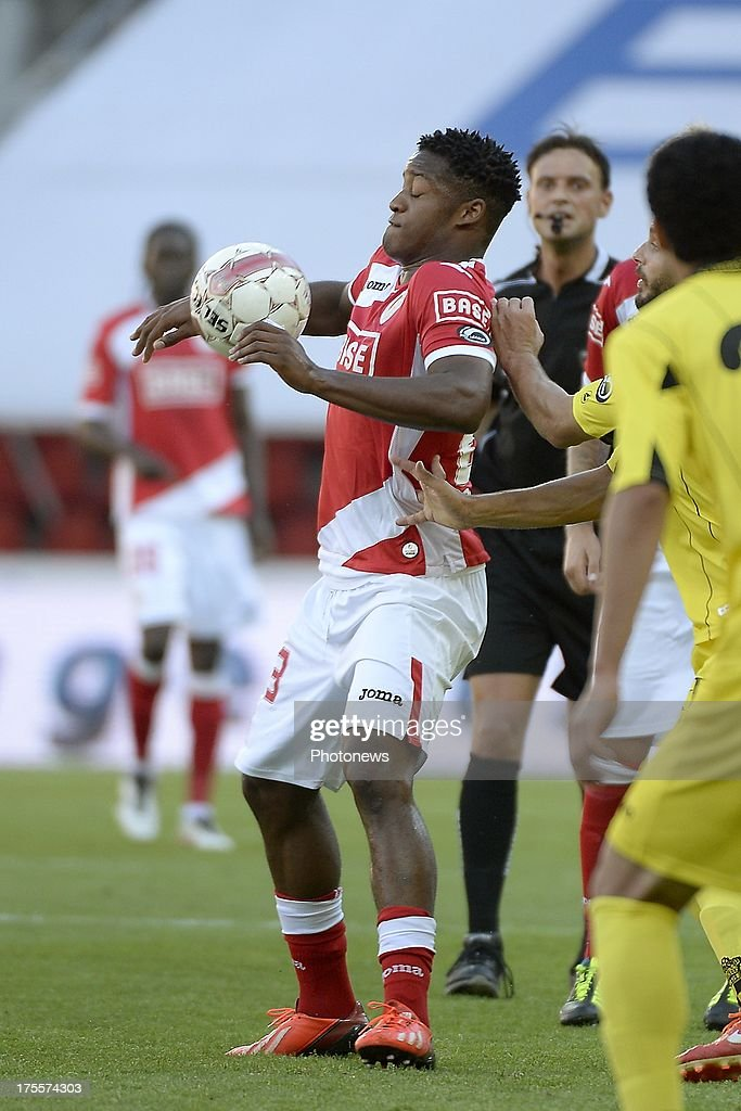 Mujangi Bia of Standard pictured during the Jupiler League match between Standard Liege and SK Lierse on Augustus 4, 2013 in Liege, Belgium. (Photo by Vincent Kalut & Jimmy Bolcina / Photonews