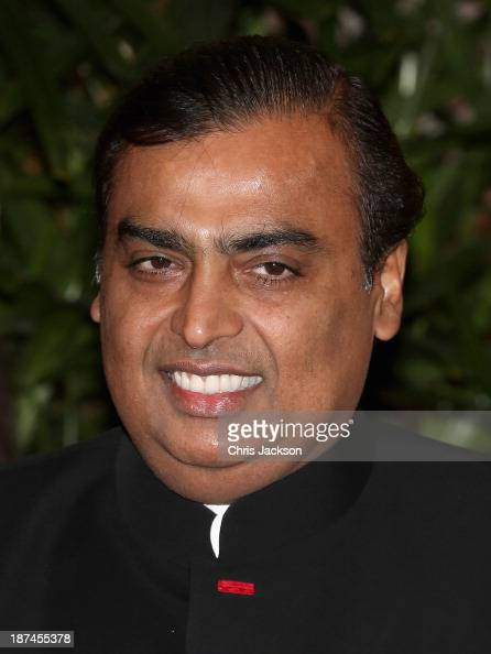 Mukesh Ambani at the British Asian Trust Reception on day 4 of an official visit to India on November 9 2013 in Mumbai India This will be the Royal...