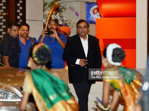 Mukesh Ambani during the party organised to celebrate Mumbai Indians victory in the Indian Premier League 2017 in Mumbai