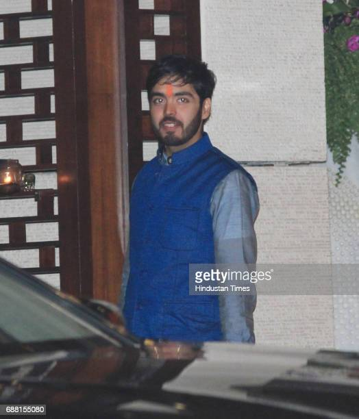 Mukesh Ambani's son Anant Ambani during the party organised to celebrate Mumbai Indians' victory in the Indian Premier League 2017 on May 22 2017 in...