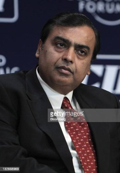 Mukesh D Ambani chairman of Reliance Industries Ltd attends the World Economic Forum India Economic Summit 2011 in Mumbai India on Sunday Nov 13 2011...